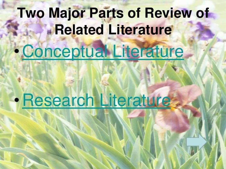 review of related literature and study Cooper, h m (1989) integrating research: a guide for literature reviews  2nd ed,  sage publications,  (b) theories related to the area of study (c) hypotheses.