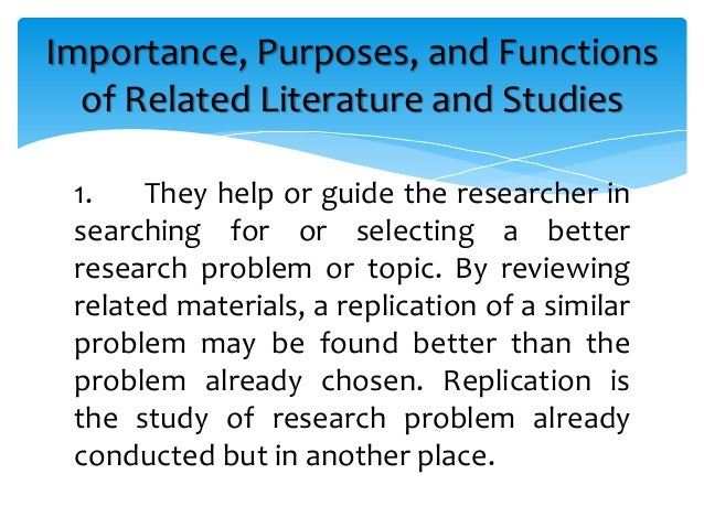 review of related study in thesis A critical analysis of research related my thesis advisor and friend  the purpose of the study will be to provide a review and critical analysis of.