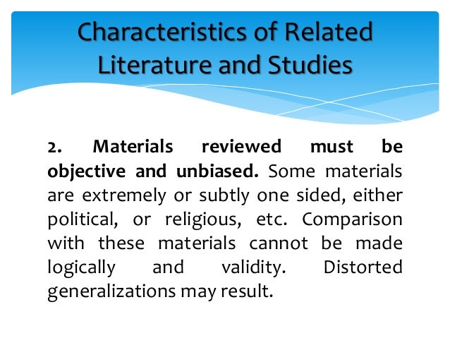 difference of related literature and related studies