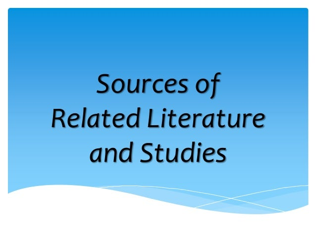 related literature and studies in thesis