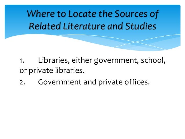 related literature and related studies about library system Easily share your publications and get them in front of issuu's millions of monthly readers title: review of related literature and studies of library management system, author: danielle keefer, name: review of related literature and studies of library management system, length: 5 pages, page.