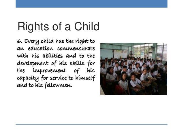 child s rights to education Human rights campus offers a range of e-learning courses and training workshops on children's rights, child development child safeguarding education in emergencies.