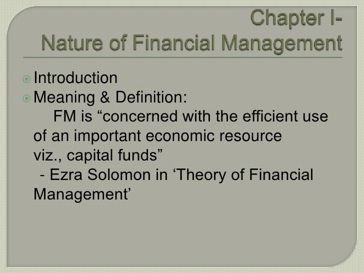 ezra solomon the theory of financial management 1 ezra solomon, the theory of financial management, page 2 book the theory of financial management who discovered and redefined decision making with.