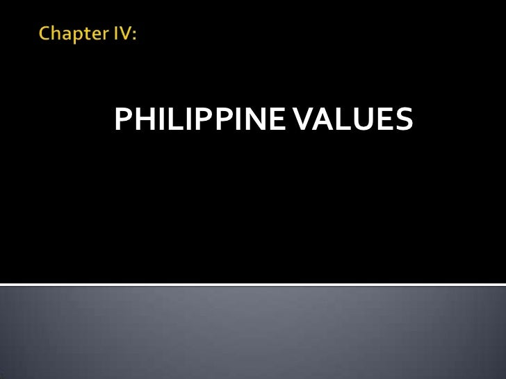 PHILIPPINE VALUES