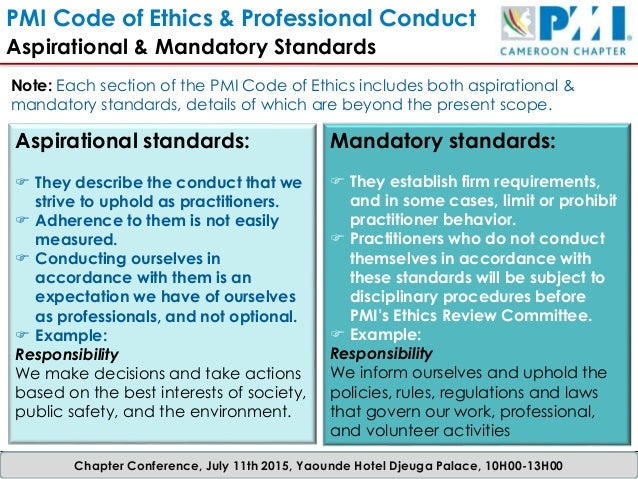 mandatory ethics and aspirational ethics The national association of realtors®' code of ethics and standards of practice  sets out aspirational ideals that  a request for mandatory.
