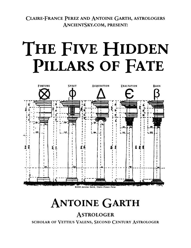 Five Pillars Of Fate Ancient Greek Astrology