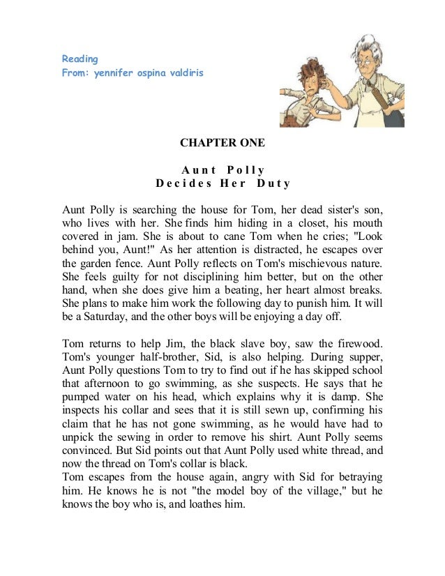 ReadingFrom: yennifer ospina valdiris                         CHAPTER ONE                       Aunt Polly                ...