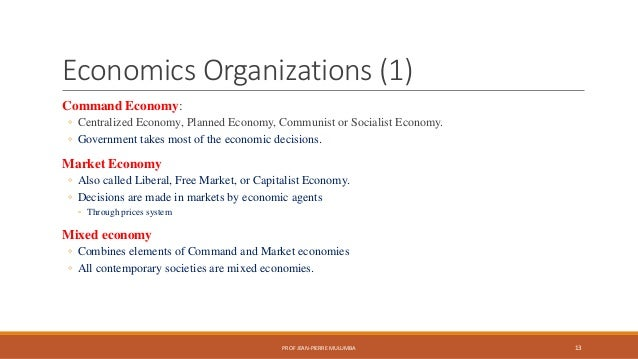 what is centralized economy