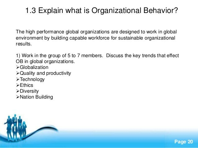 Chapter one introduction to organization free powerpoint templates page 20 13 explain what is organizational behavior toneelgroepblik Images