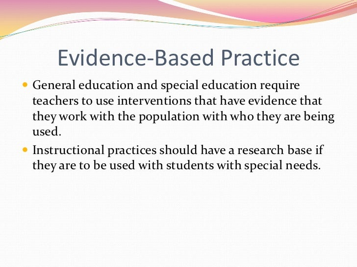 Evidence Based Instructional Strategies User Guide Manual That