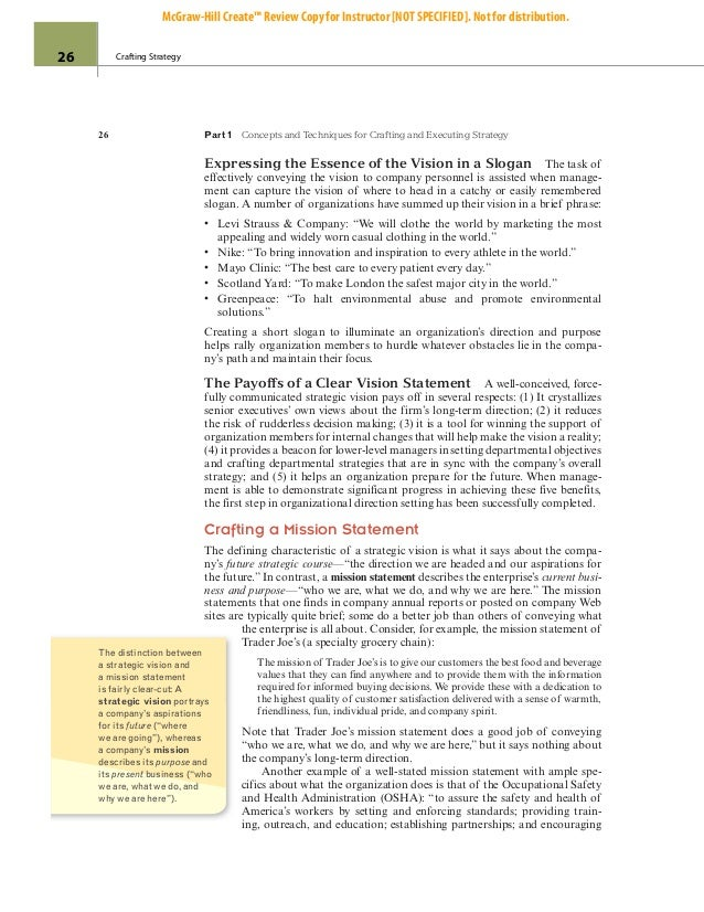 crafting and executing strategy 18th edition page 48 Overview: the 18th edition of crafting and executing strategy represents one of our most important and thoroughgoing revisions ever the newest member of the author team, margie peteraf, led a thorough re-examination of every paragraph on every page of the 17th edition chapters the overriding.