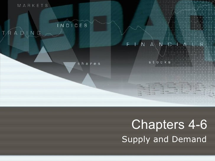 Chapters 4-6 Supply and Demand