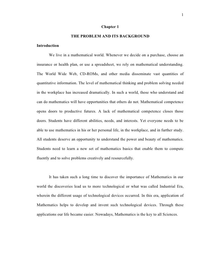 dissertation chapter 1 outline