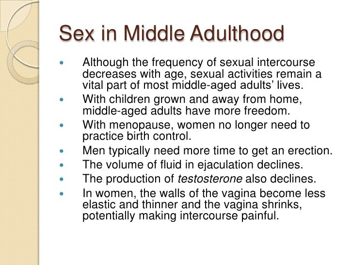 essay on middle adulthood