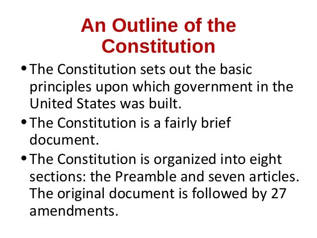 Outlining The Constitution Worksheet