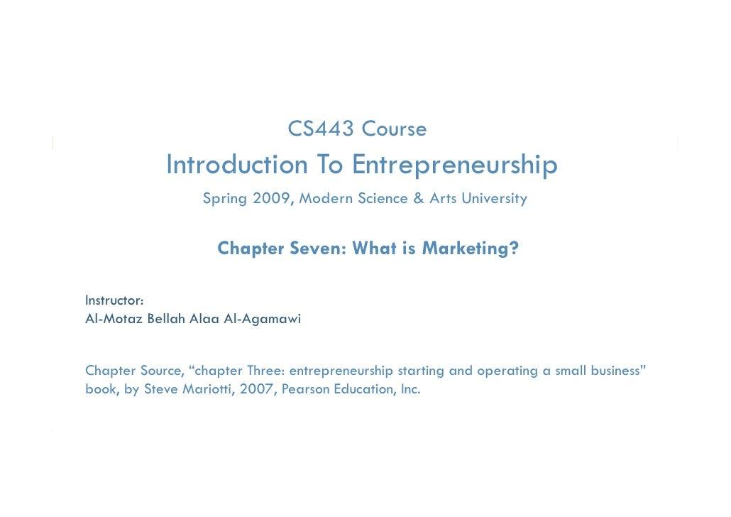 CS443 Course            Introduction To Entrepreneurship                                 p         p                  Spri...