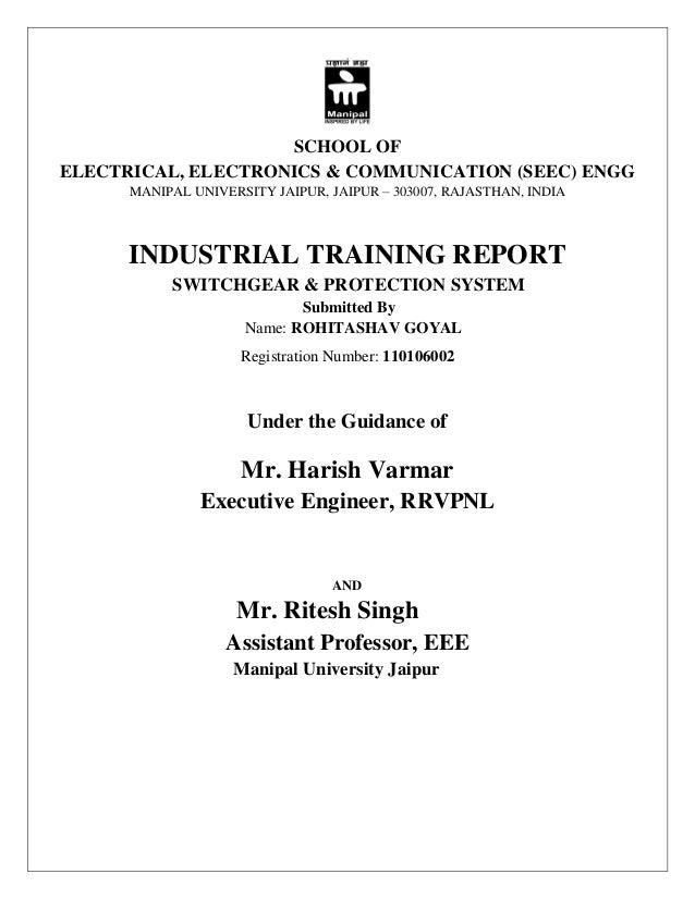 Training Report on 220 KV G S S  HINDAUN CITY