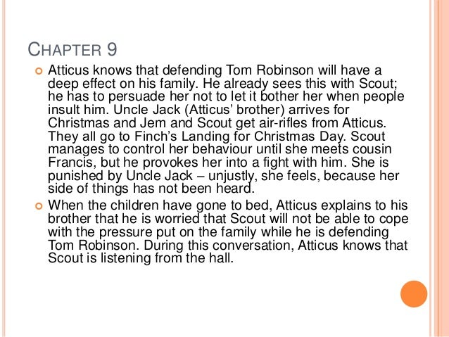 chapter notes for to kill a mockingbird