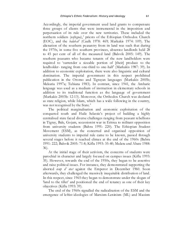 what is ethnic federalism pdf
