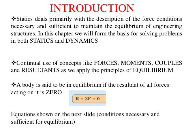 what are the conditions necessary for equilibrium