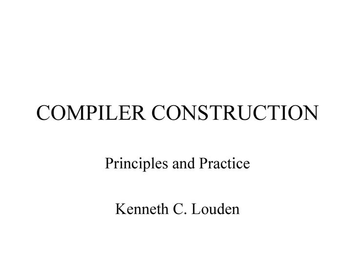 chapter three 2 rh slideshare net compiler construction principles and practice solution manual Call Graph