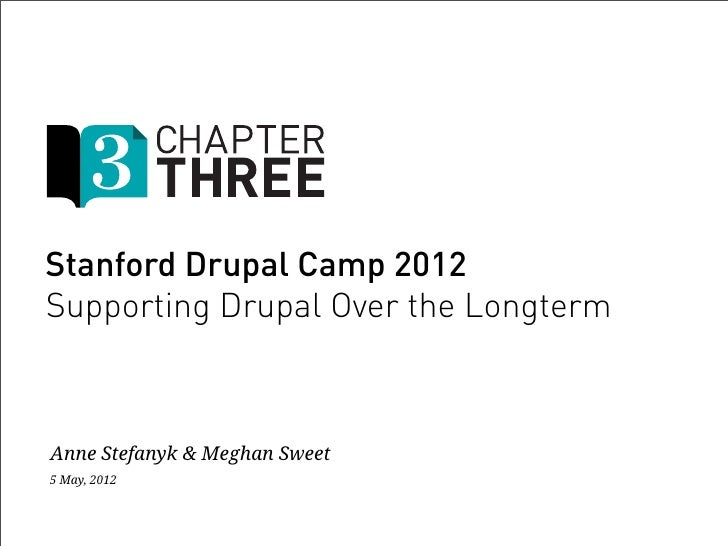 Stanford Drupal Camp 2012Supporting Drupal Over the LongtermAnne Stefanyk & Meghan Sweet5 May, 2012
