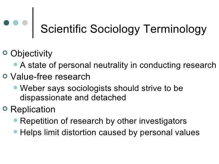 Sociology and Value Neutrality: Limiting Sociology to the Empirical Level