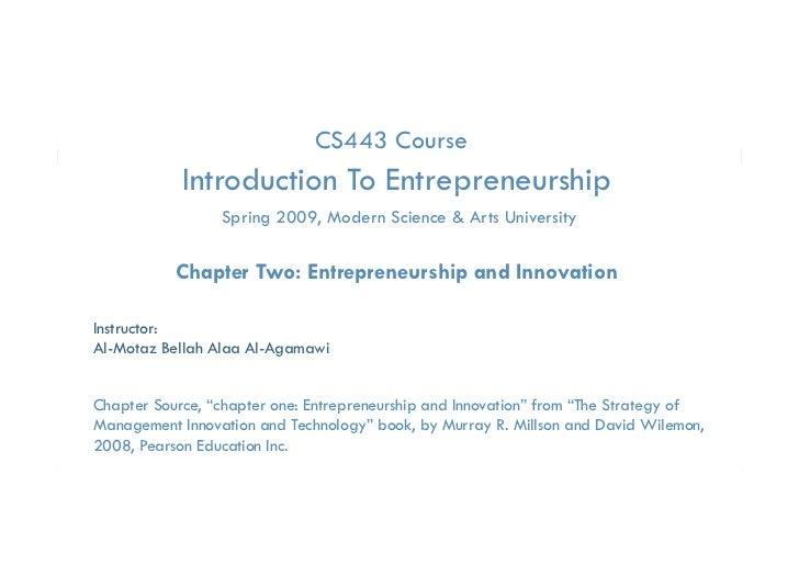 CS443 Course            Introduction To Entrepreneurship                                 p         p                 Sprin...