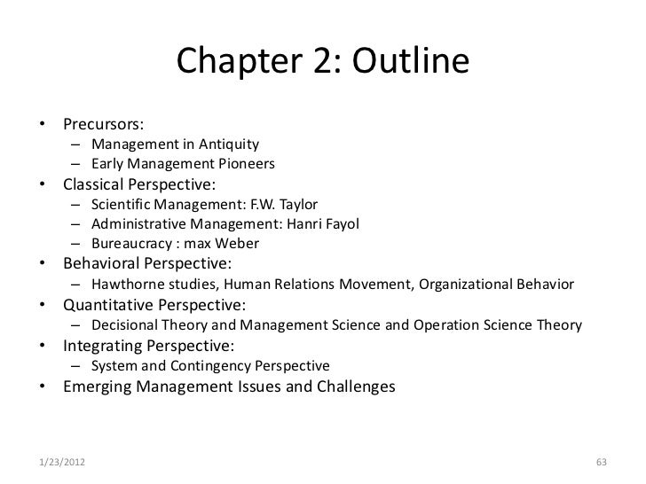 three perspectives of organization theory essay In conclusion, although the three perspectives differ in their interpretation and views on the dimension of an organizational structure, it can be agreed that all perspectives recognize the importance of the social structure of an organization as the key building block that forms the organization.