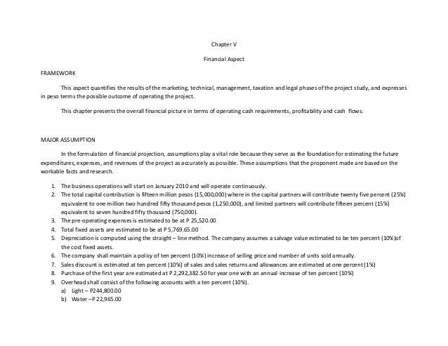 Chapter V                                                                 Financial AspectFRAMEWORK        This aspect qua...