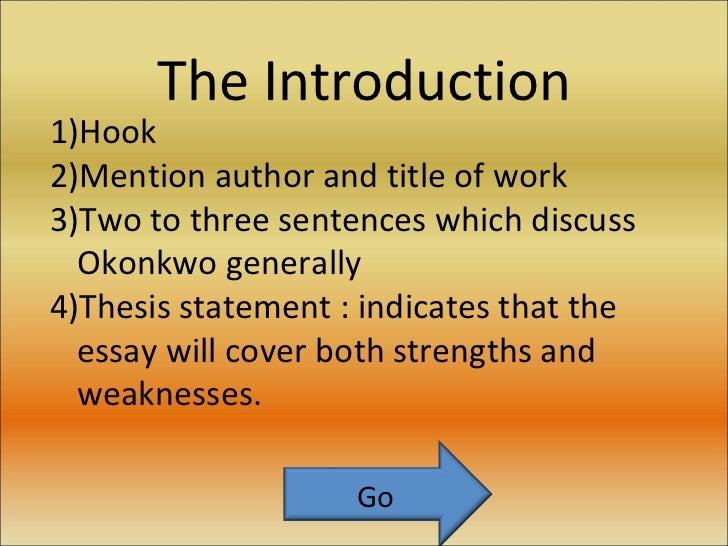 essay on okonkwos character