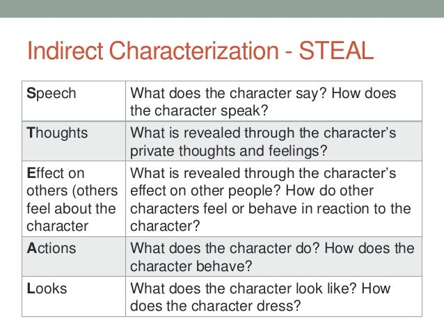 an analysis of characterization Characterization definition - characterization is a big data methodology that is used for generating descriptive parameters that effectively describe.