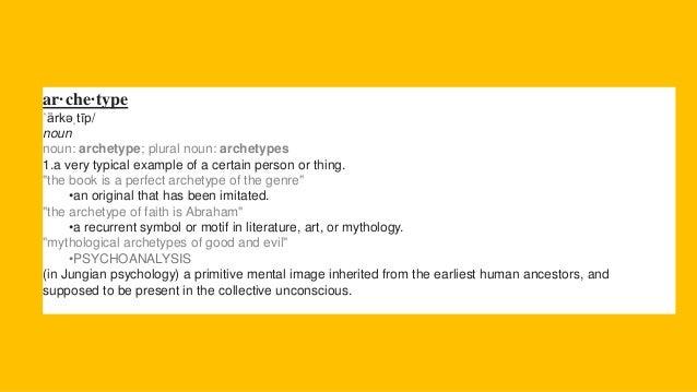 Character Archetype Presentation