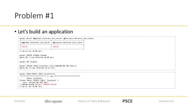 Character Encoding - MySQL DevRoom - FOSDEM 2015