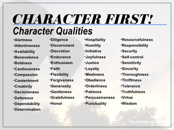 character first Character first tom is the founder of character first and chairman for the character training institute, a non-profit 501(c)(3) organization dedicated to providing materials and training for building good character.