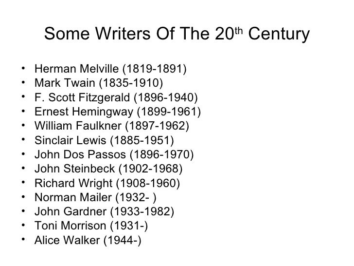 20th century american essayists Main index page of writers, novelists, poets, playwrights and essayist in the 18th, 19th and 20th century.