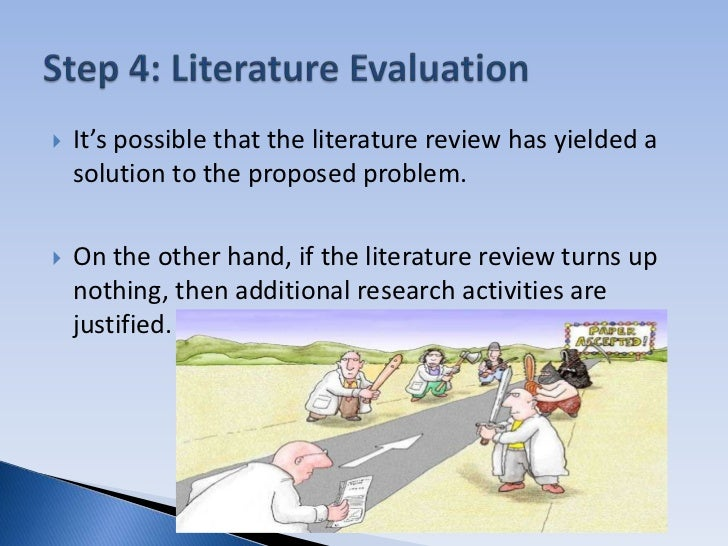 Importance of review of literature in research report