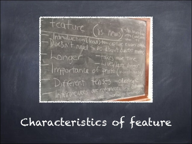 Characteristics of feature