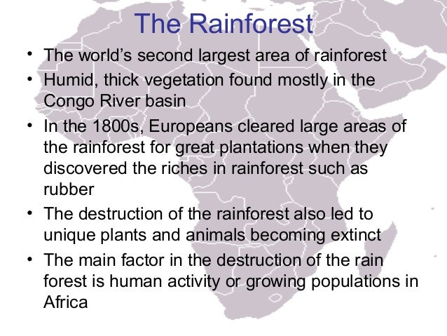 Characteristics of africa work, live, travel