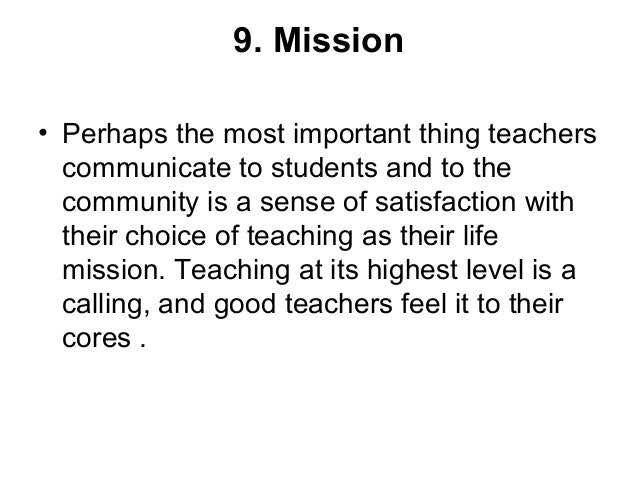 Characteristics of a successful teacher