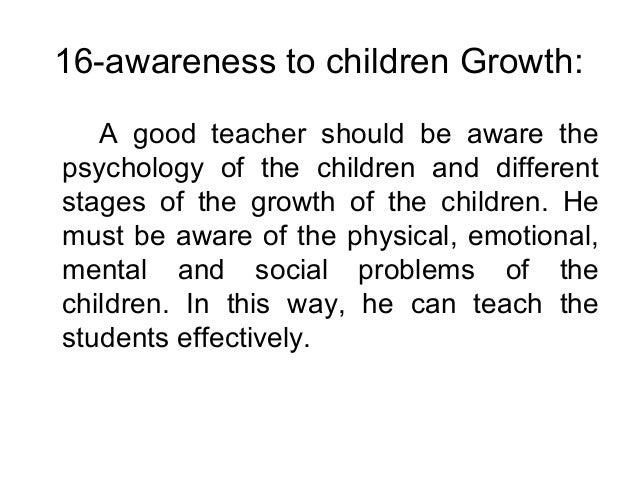 Characteristics of a good teacher