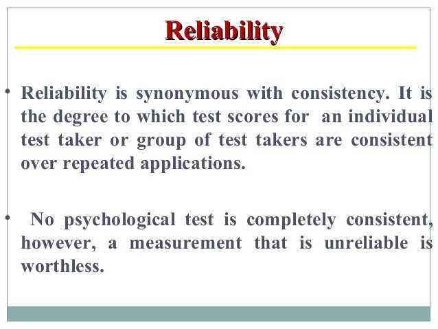 Characteristics of a good test