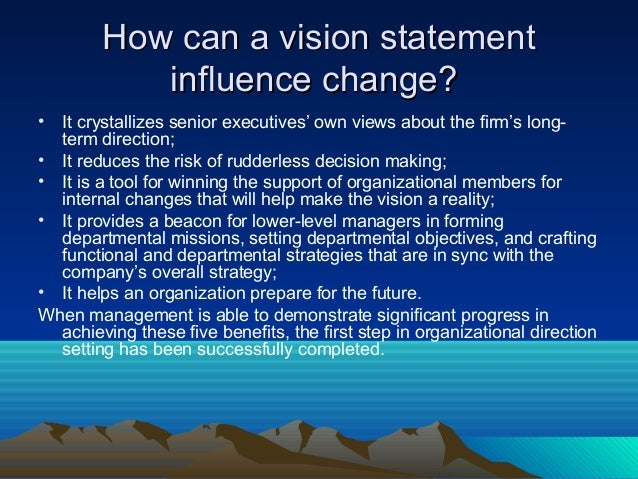 Qualities of a good vision statement