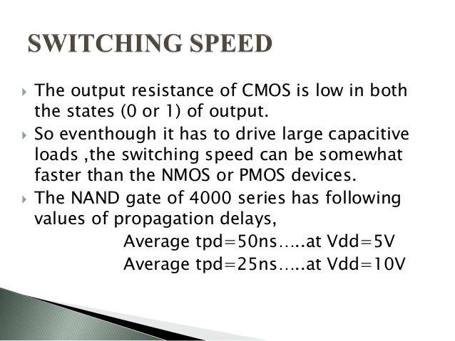 Characteristics of cmos ic series