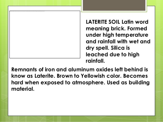 Characteristics of different types of soils for Pictures of different types of soil with their names