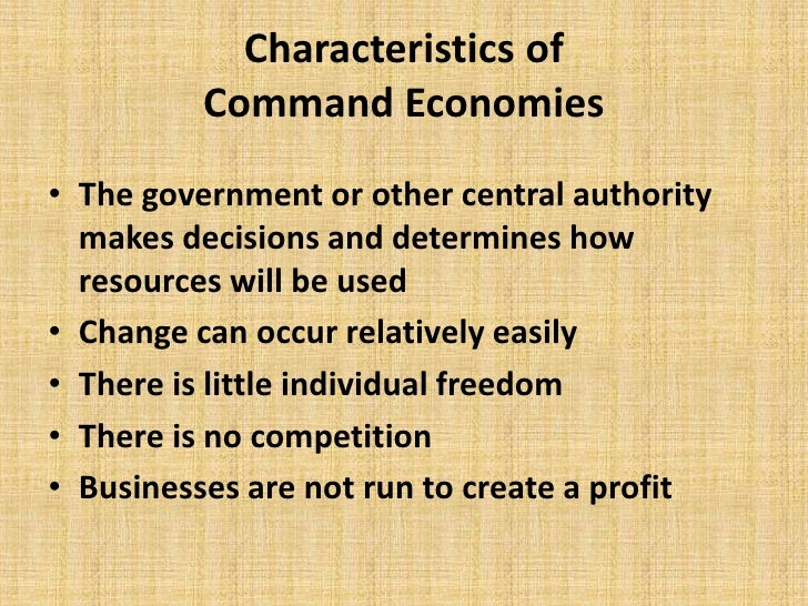 characteristics of economic systems