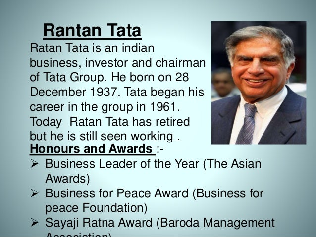 "personality traits of ratan tata Tata group to roll out fresh leadership competency model and in ""competencies are underlying characteristics of an individual ratan tata to set up."