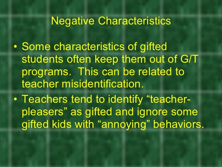Repetitions 19 Negative Characteristics
