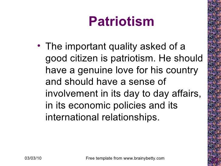 characteristics of a patriot
