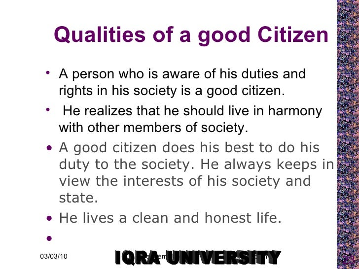duties of a good citizen